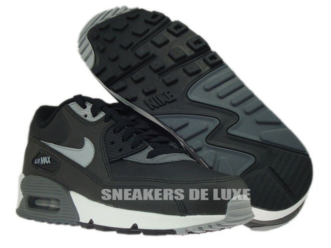 6f52aa5c76 NIKE AIR MAX 90 ESSENTIAL 537384-003 Nike Air Max 90 Essential  BlackSilver-Dark Grey- .