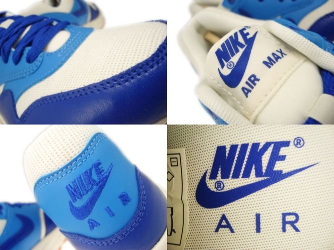 English: 555284-105 Nike Air Max 1 Vintage Sail/Hyper Blue-Blitz ...