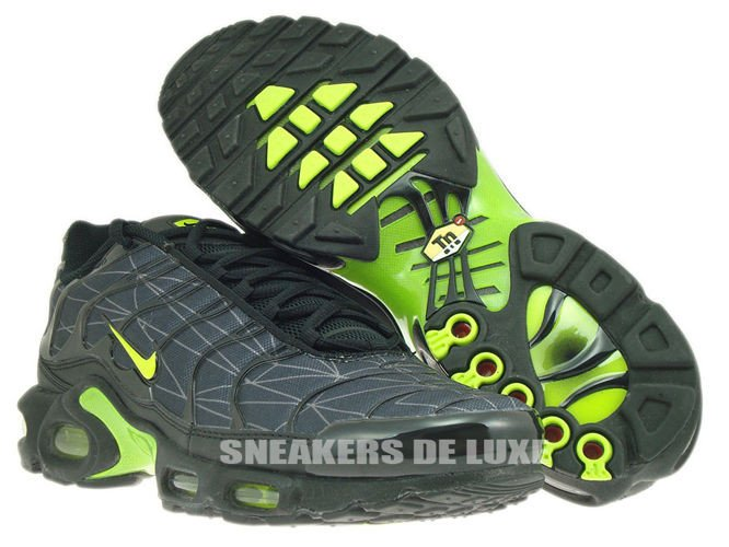 cheap for discount c8660 1ef1e 647315-070 Nike Air Max Plus TXT TN 1 Black Volt ...