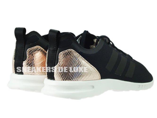 quite nice 42777 387dc wholesale black and gold adidas originals zx flux 7c00e b4891