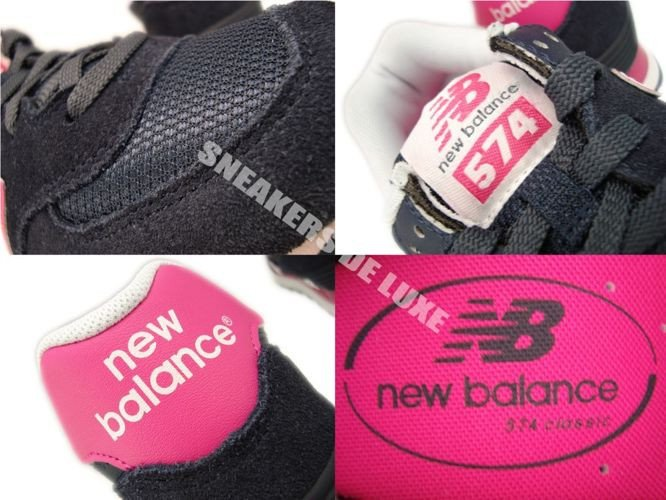 new balance 574 navy and pink