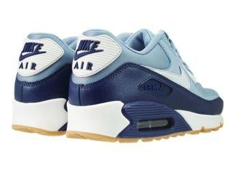 616730-402 Nike Air Max 90 Grey/Pure Platinum-Loyal Blue-Summit White