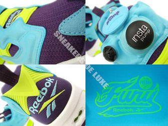 M46892 Reebok Insta Pump Fury Blue/Purple/Yellow/White