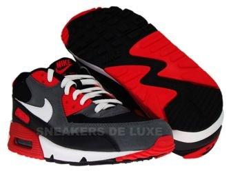2822a59b3cbc Nike Air Max 90 BlackWhite-Flint Grey-Hot Red 345188- ...